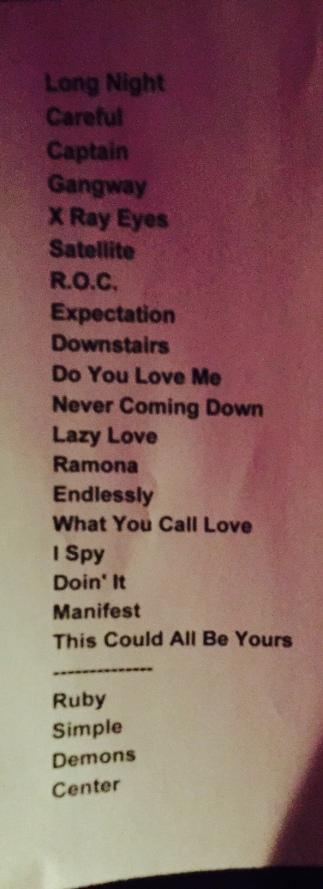 Setlist 1.23.15